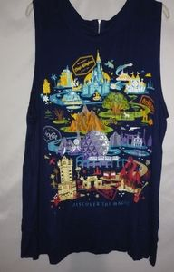 Disney Premium Navy Park Top 2X Plus